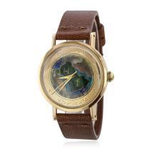 Universal Cloisonné Enamel 18KT Rose Gold Wristwatch