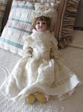 1800s Doll with Original Costume