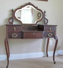 Antique Stained Oak Dressing Table