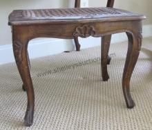 Dressing Stool with Caned Bottom