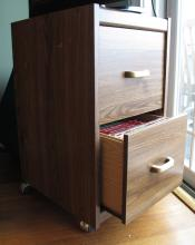 File Cabinet with Cookbooks