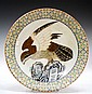 Chinese Famille Verte Porcelain Charger Eagle