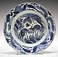 Chinese Blue & White Porcelain Plate Wan Li Period