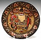 Chinese Lacquered Plate w/ Elephant