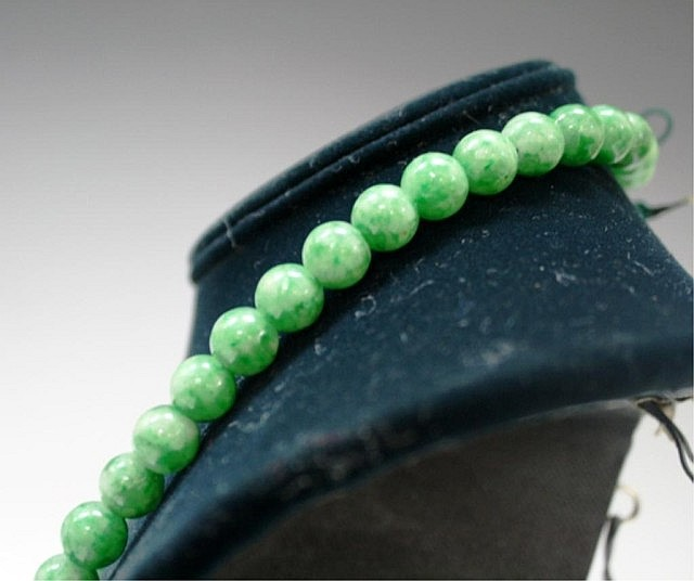 Chinese Jadeite Beaded Necklace