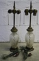 Pair of French Baccarat Glass Lamps 19th Cent.