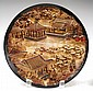 Lot of 2 Chinese Lacquered Plates w/ Landscape
