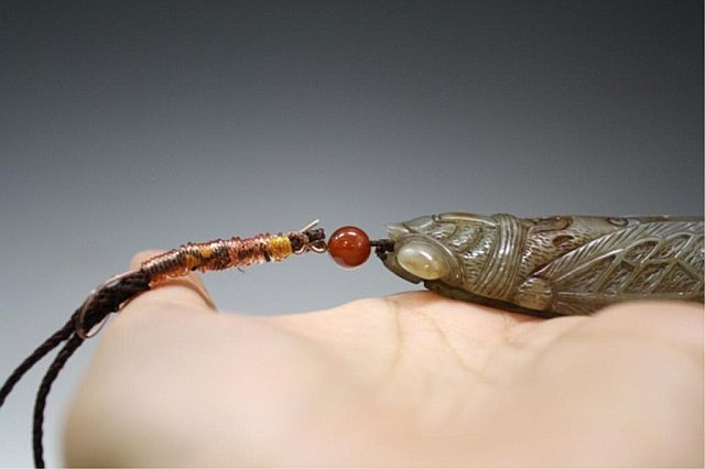 Chinese Jade Insect Pendant