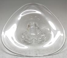 Orrefors Clear Glass Bowl, Swedish