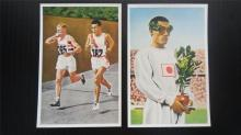 Korean Sohn Kee Chung Olympic Trading Cards-Pair
