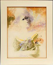 Albert Deman Large Pastel Portrait of a Woman