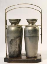 1930s Art Deco Travel Set of Four Cocktail Shakers