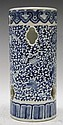 Chinese Blue & White Porcelain Floral Hat Stand