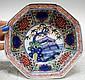 Chinese Octagonal Porcelain Bowl w/ Scholar Rocks