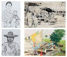 Four sketches by various Artists