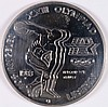 1983-S UNCIRCULATED OLYMPIC COMMEMORATIVE SILVER DOLLAR, BU