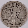 1917-S WALKING LIBERTY HALF DOLLAR, VG