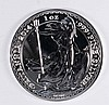 2014 BRITISH BRITANNIA ONE OUNCE .999 SILVER COIN