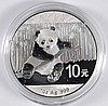2014 CHINESE SILVER PANDA ONE OUNCE .999 SILVER COIN IN ORIGINAL CAPSULE