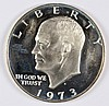 1973-S SILVER EISENHOWER DOLLAR, CHOICE PROOF