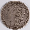 1899 MORGAN SILVER DOLLAR, FINE SCARCE DATE
