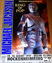 MICHAEL JACKSON HISTORY HOCKENHEIM GERMANY 10 AUGUST 1997 POSTER.