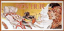 BEN HUR ORIGINAL 1925 VINTAGE HORIZONTAL INSERT.