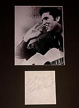 ELVIS PRESLEY SIGNED NOTE IN PRESENTATION.