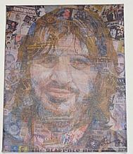 THE BEATLES 'RINGO IN THEIR LIVES' SIGNED CANVAS PRINT BY ANTHONY BROWN