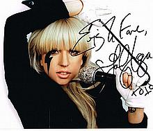 LADY GAGA SIGNED PHOTO