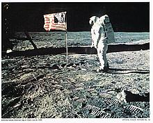 OFFICIAL NASA PHOTO OF MAN ON THE MOON JULY 20 1969