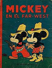 MICKEY MOUSE IN THE FAR WEST 1936 BOOK.