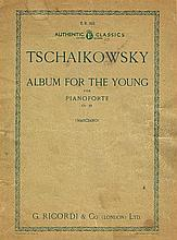ORIGINAL TSCHAIKOWSKY ALBUM FOR THE YOUNG SONG BOOK.