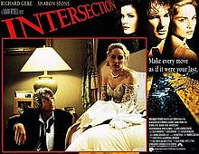 RICHARD GERE AND SHARON STONE INTERSECTION ORIGINAL 1994 FILM POSTER.