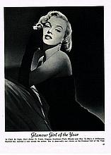 MARILYN MONROE GLAMOUR BOOK 1953 FORWARD BY MARILIYN