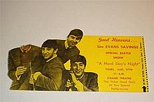 THE BEATLES 'HARD DAYS NIGHT' DIE CUT 1964 MOVIE TICKET