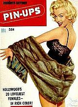 MARILYN MONROE 1955 NO1 MODERN SCREEN PIN UPS MAGAZINE