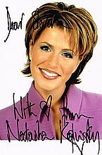 A NATASHA KAPLINSKY SIGNED PHOTO.