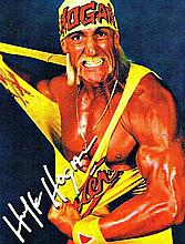 A HULK HOGAN SIGNED PICTURE