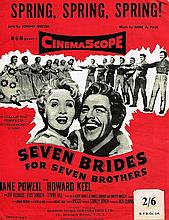 ORIGINAL SEVEN BRIDES FOR SEVEN BROTHERS MUSIC SHEET.