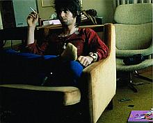 KEITH RICHARDS LARGE PHOTO IN A HOTEL 1977