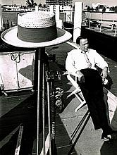 FRANK SINATRA UNPUBLISHED STAMPED 1967 PHOTO.