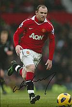 WAYNE ROONEY MANCHESTER UNITED SIGNED PHOTO.