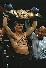 JOE CALZAGHE SIGNED PHOTO.