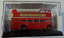 BOXED MODEL OF A LONDON RED BUS.