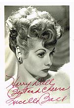 A SIGNED AND INSCRIBED LUCILLE BALL PHOTOGRAPH.