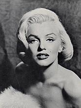 MARILYN MONROE PHOTO ON CARD.