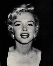 MARILYN MONROE PHOTO ON CARD,