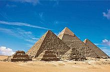 PYRAMIDS AT GIZA, CAIRO POSTER 18X24 INCHES.