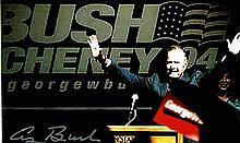 GEORGE W BUSH ELECTION 1994 SIGNED PHOTO